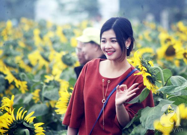 Các thiếu nữ hào hứng khoe sắc xinh đẹp cùng cánh đồng hoa hướng dương rực rỡ - Ảnh 2.