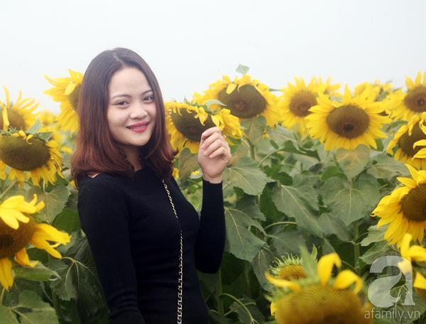 Các thiếu nữ hào hứng khoe sắc xinh đẹp cùng cánh đồng hoa hướng dương rực rỡ - Ảnh 5.