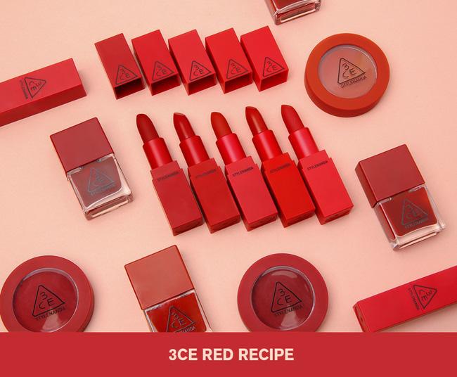Xem tận mắt 5 sắc son đỏ trong BST Red Recip của 3CE lên màu ra sao - Ảnh 1.