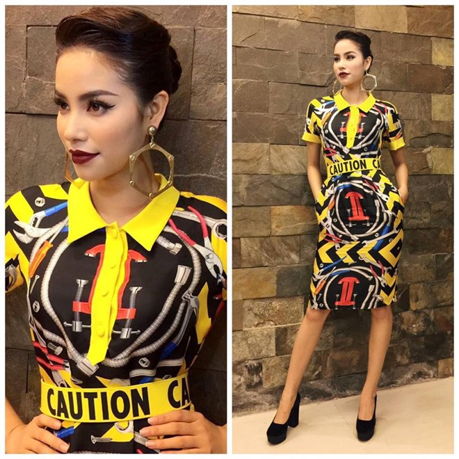 Phạm Hương và 3 phong cách hoàn toàn khác nhau từ The Face, Hoa hậu hoàn vũ 2017 đến The Look - Ảnh 3.
