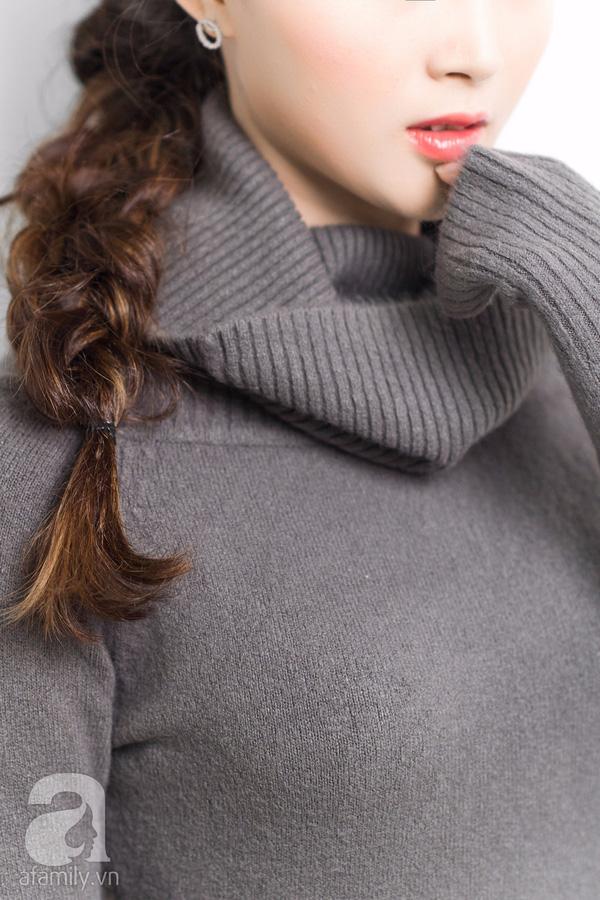 4 kiểu tóc đẹp duyên dành cho nàng tóc dài chán để tóc xoã - Ảnh 9.