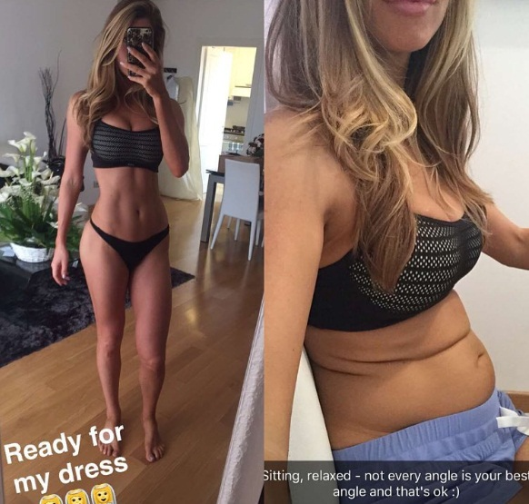 Chán sống ảo, người mẫu fitness công khai ảnh chụp bụng bánh bèo ngấn mỡ - Ảnh 1.