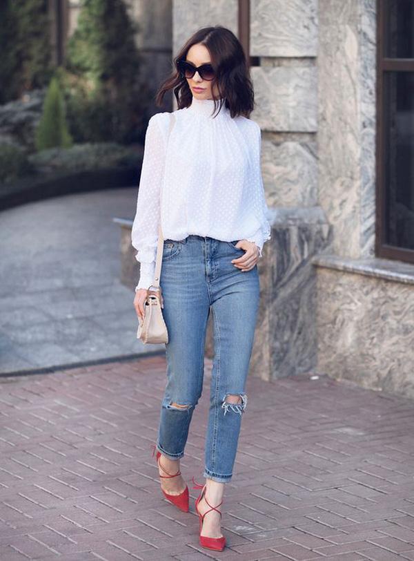 Đến quần jeans dáng sơ bản cũng có kiểu chuẩn xu hướng, kiểu không - Ảnh 3.