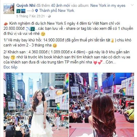 Khoe đi New York 5 ngày 4 đêm chỉ tốn 20 triệu, cô nàng DJ Sài Gòn bị dân mạng chửi sấp mặt vì... điêu - Ảnh 1.
