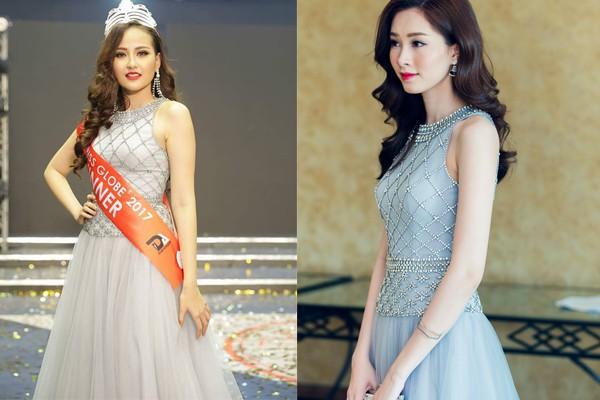 Vừa đăng quang Miss Globe, Khánh Ngân đã bị soi mặc lại váy của Thu Thảo từ năm ngoái - Ảnh 6.