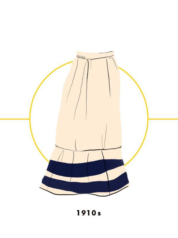 Ngược dòng về quá khứ xem sự thay đổi của chân váy qua từng thời kỳ - Ảnh 4.