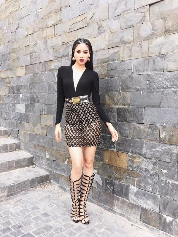 Phạm Hương và 3 phong cách hoàn toàn khác nhau từ The Face, Hoa hậu hoàn vũ 2017 đến The Look - Ảnh 5.