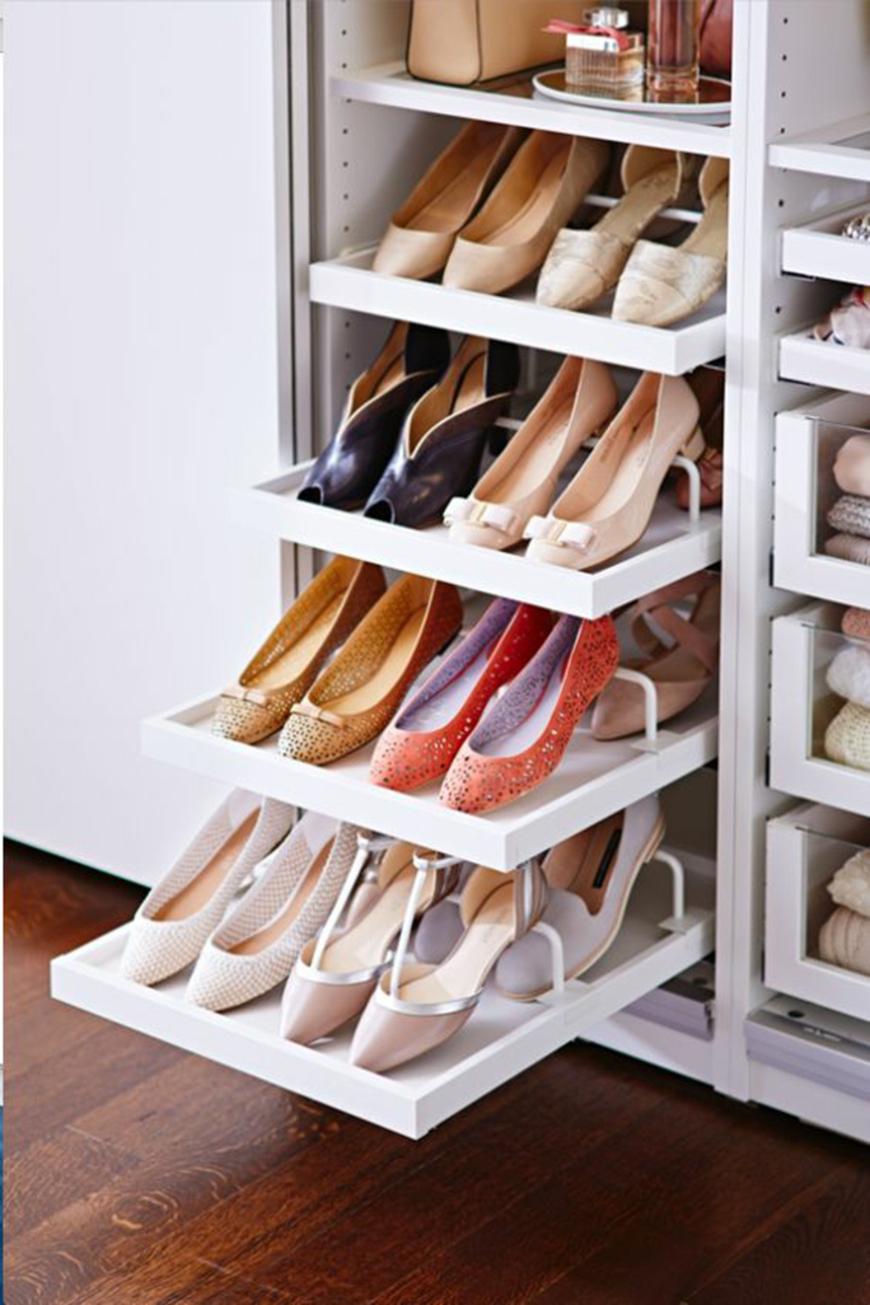 100 лучших идей: полки для обуви (обувница) на фото.