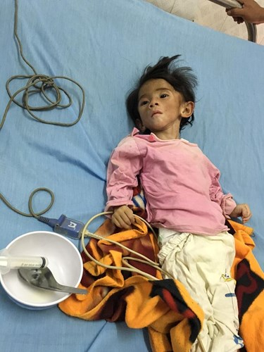 Sau gần 1 năm có mẹ nuôi, em bé Lào Cai đã tăng 10kg, bụ bẫm đáng yêu như thế này đây - Ảnh 1.