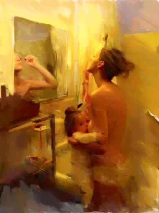 Bức ảnh đập tan suy nghĩ cho rằng ở nhà chăm con là có làm gì đâu - Ảnh 1.