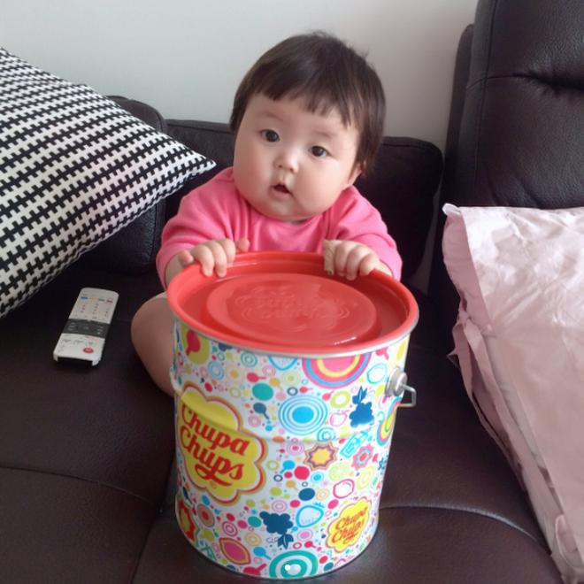 Cô nhóc người Hàn sở hữu cặp má bánh bao trong truyền thuyết siêu đáng yêu - Ảnh 4.