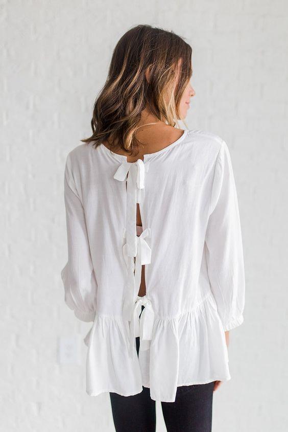 Nơ nhỏ xinh thắt dọc lưng áo đang là mốt khiến phái đẹp phải xiêu lòng - Ảnh 8.