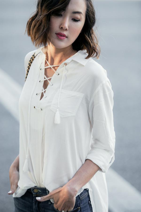 Chỉ cần chọn đúng kiểu cổ áo thì mọi nhược điểm phần thân trên đều được giải quyết nhanh gọn - Ảnh 6.
