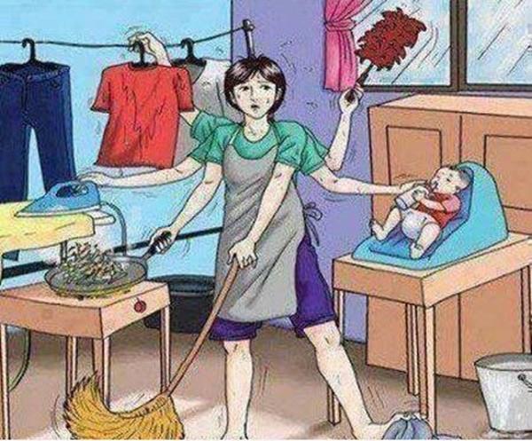 Bức ảnh đập tan suy nghĩ cho rằng ở nhà chăm con là có làm gì đâu - Ảnh 2.