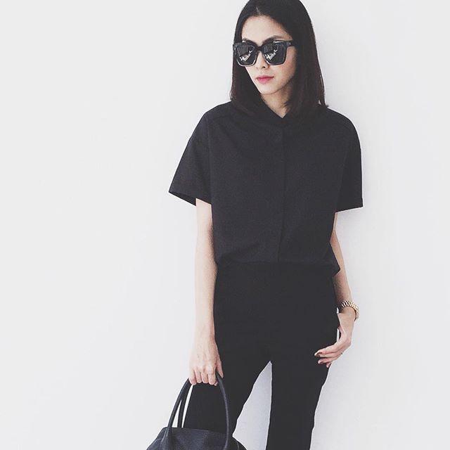 Cầu kỳ gì đâu, Tăng Thanh Hà chỉ cần diện đồ đen - trắng đơn giản thế này thôi cũng đẹp - Ảnh 16.