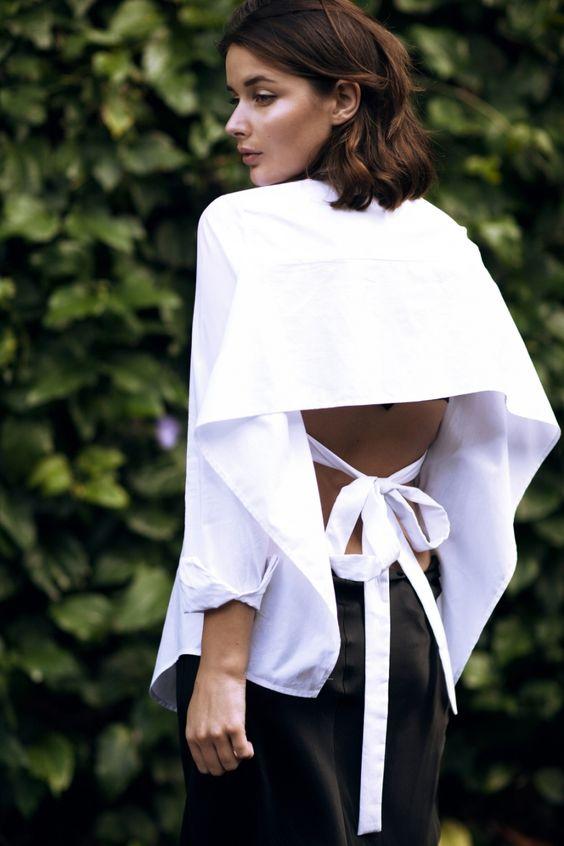 Nơ nhỏ xinh thắt dọc lưng áo đang là mốt khiến phái đẹp phải xiêu lòng - Ảnh 15.