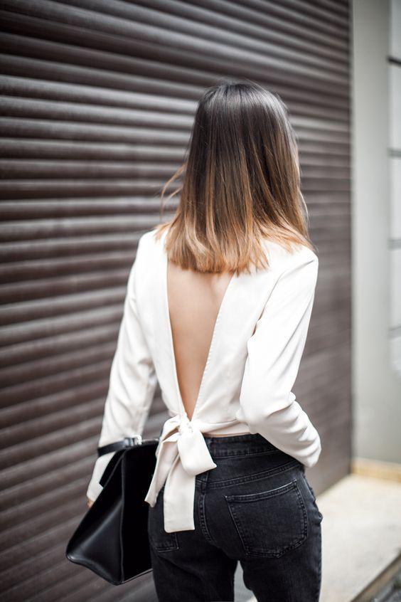 Nơ nhỏ xinh thắt dọc lưng áo đang là mốt khiến phái đẹp phải xiêu lòng - Ảnh 17.