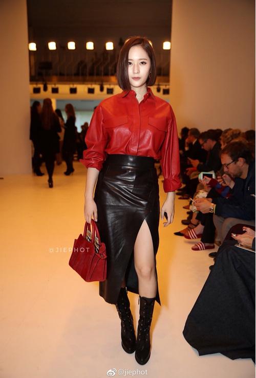 Nối gót Yoona, Krystal cũng cắt tóc ngắn, xuất hiện cực sang chảnh tại Tuần lễ thời trang Milan - Ảnh 4.