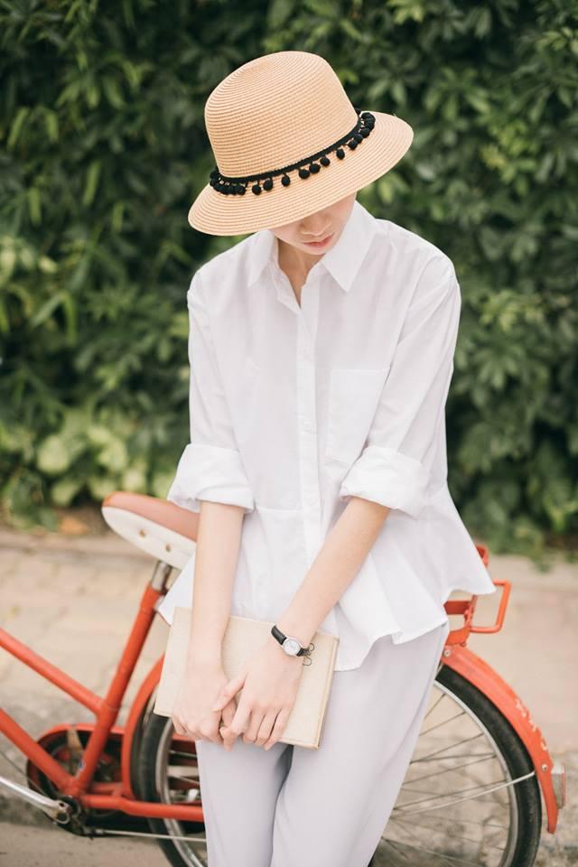 Loạt mẫu áo sơmi/blouse trơn màu giá chưa đến 500 ngàn từ thương hiệu Việt để các nàng chọn mua cho hè - Ảnh 7.