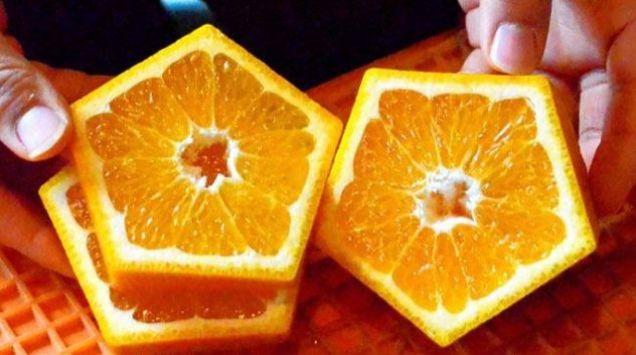 Quên dưa hấu vuông đi, Nhật Bản còn có loại cam ngũ giác thế này đây - Ảnh 3.