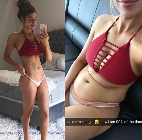Chán sống ảo, người mẫu fitness công khai ảnh chụp bụng bánh bèo ngấn mỡ - Ảnh 2.