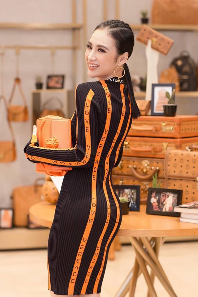 Bầu bí 2 lần nhưng Huyền Baby diện váy ôm khoe đường cong chẳng kém Angela Phương Trinh - Ảnh 5.