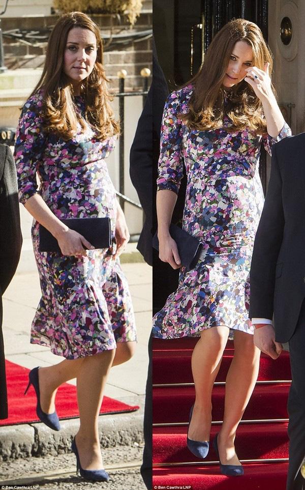 Bầu bí là thế nhưng Công nương Kate vẫn khư khư thói quen đi giày cao gót - Ảnh 10.