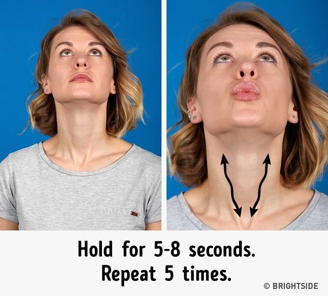 7 bài tập cực đơn giản nhưng hiệu quả nhất để có cằm xinh, mặt trẻ - Ảnh 5.