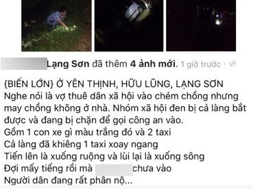 Lạng Sơn: Dân làng bao vây nhóm xã hội đen do con dâu của xã đưa bạn trai về trả thù chồng - Ảnh 1.