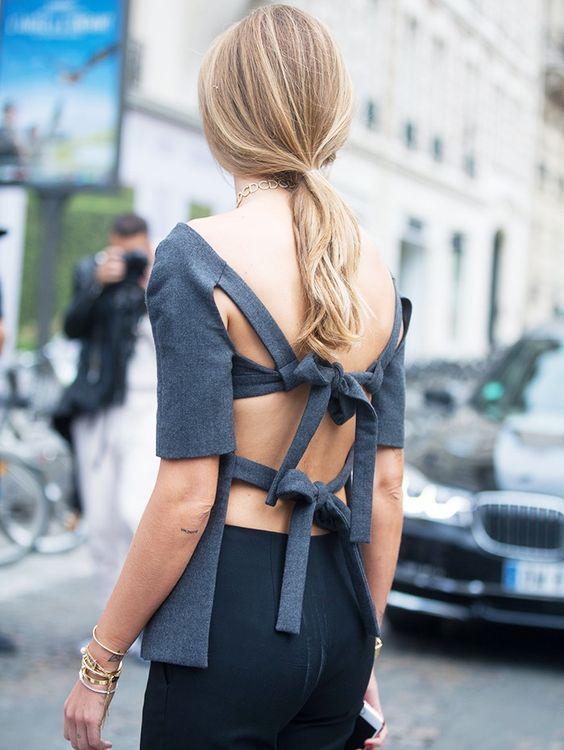 Nơ nhỏ xinh thắt dọc lưng áo đang là mốt khiến phái đẹp phải xiêu lòng - Ảnh 22.