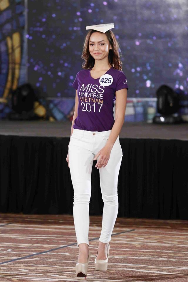 Sau ồn ào rút khỏi cuộc thi, hình ảnh Mai Ngô mất hút ở Hoa hậu Hoàn vũ 2017 - ảnh 1