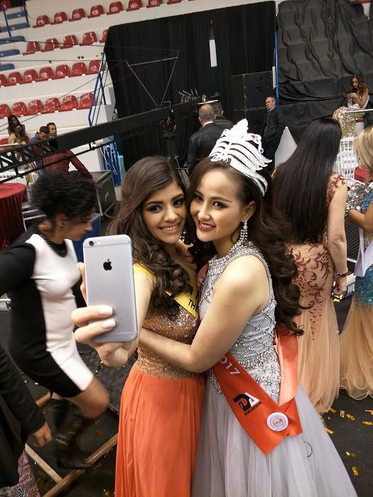Vừa đăng quang Miss Globe, Khánh Ngân đã bị soi mặc lại váy của Thu Thảo từ năm ngoái - Ảnh 3.