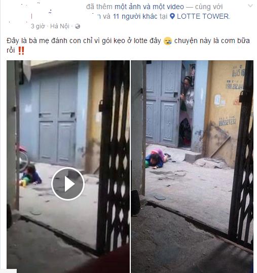 Xuất hiện thêm clip bé gái bị mẹ đánh ở siêu thị nằm khóc thảm thiết giữa đường - Ảnh 1.