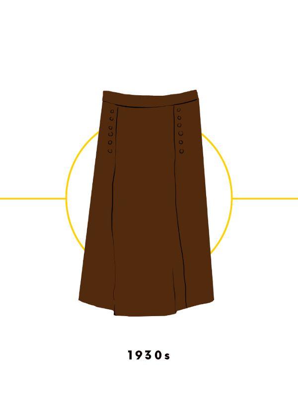 Ngược dòng về quá khứ xem sự thay đổi của chân váy qua từng thời kỳ - Ảnh 9.