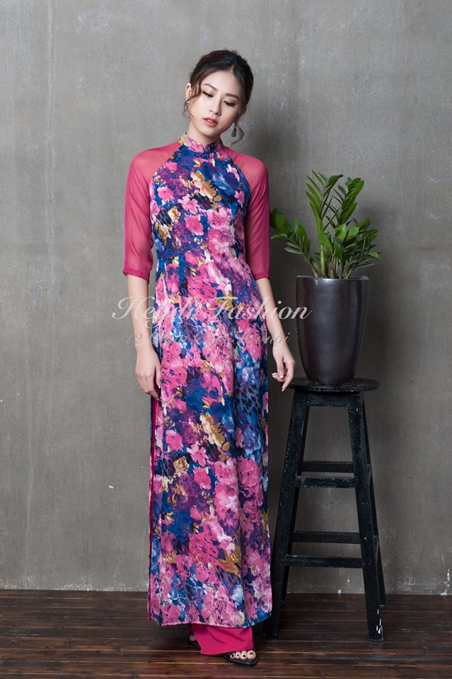 Du Xuân duyên dáng cùng loạt thiết kế áo dài truyền thống có giá dưới 3 triệu đồng - Ảnh 8.