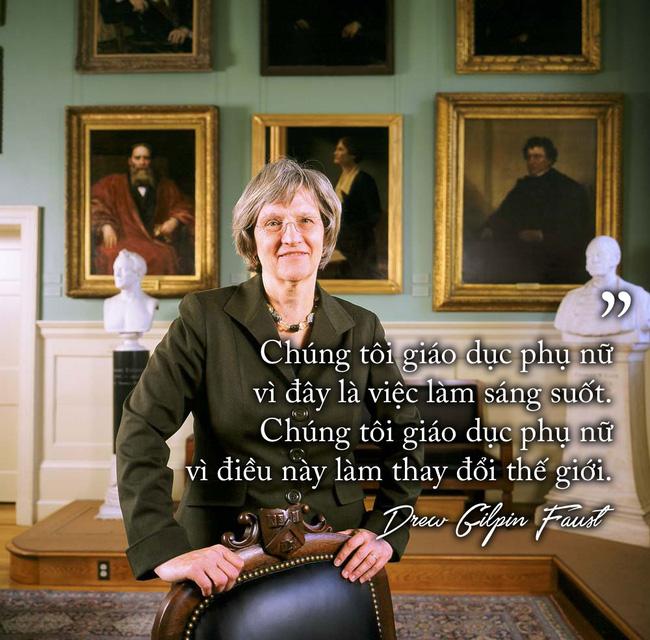 Nữ hiệu trưởng của Đại học Harvard: Thế giới này không phải của riêng đàn ông - Ảnh 5.