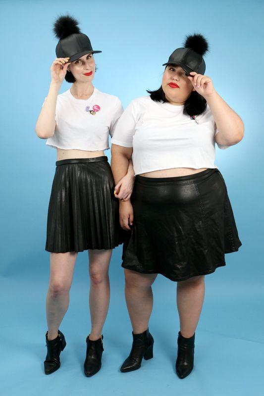 2 cô nàng béo và gầy này sẽ cùng mặc thử 1 mẫu trang phục để xem liệu ai sẽ mặc đẹp hơn - Ảnh 9.