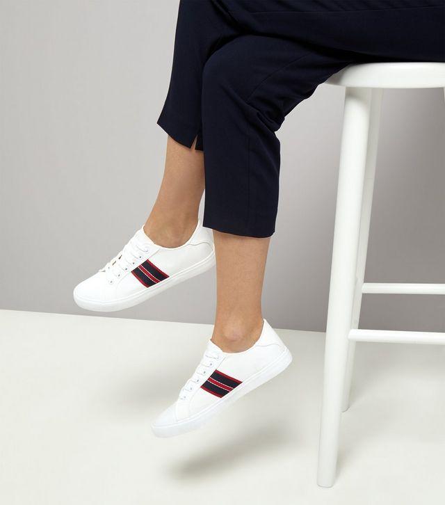 Loạt thương hiệu bình dân đã tung ra nhiều mẫu giày thể thao trắng cho các nàng tha hồ lựa chọn - Ảnh 14.