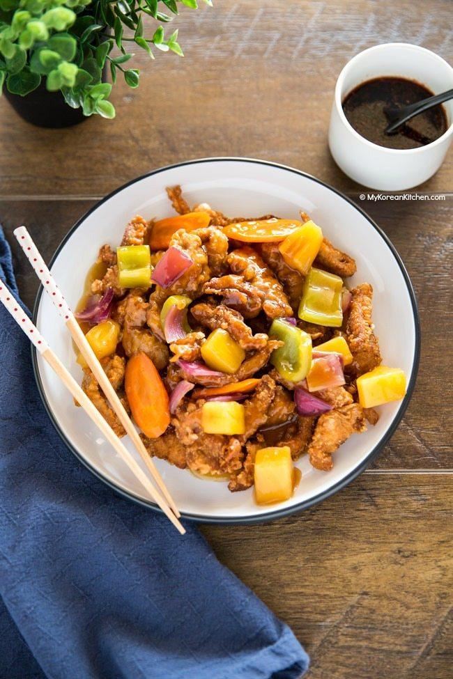 Nồi cơm sạch banh khi ăn với thịt sốt chua ngọt siêu ngon - Ảnh 7.