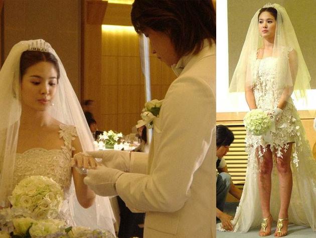 Nhìn lại 4 lần khoác lên mình bộ váy cưới và dự đoán chiếc váy mà Song Hye Kyo sẽ chọn mặc ngày 31 này  - Ảnh 3.