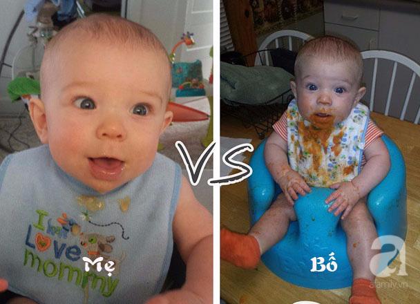 Cười ngất với chùm ảnh: Muôn kiểu khác biệt giữa bố và mẹ khi chăm con - Ảnh 12.