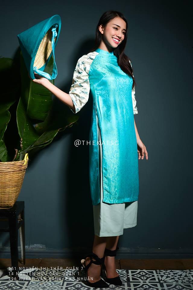 Những thiết kế áo dài cách tân thuần Việt giá dưới 1.5 triệu đẹp lung linh cho nàng diện Tết - Ảnh 12.