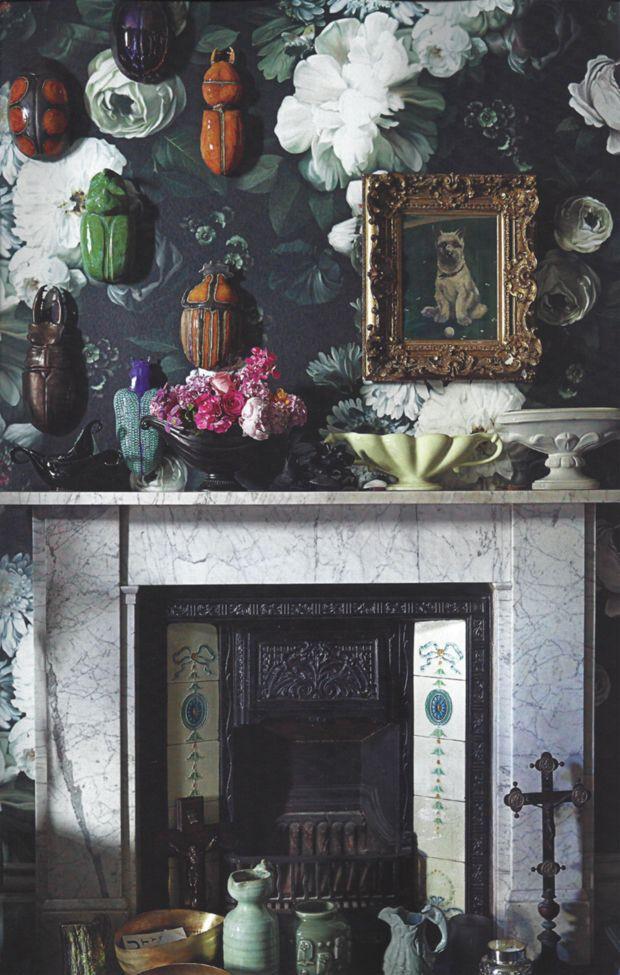 Cả ngôi nhà sẽ được F5 trong tích tắc nhờ trang trí bằng họa tiết hoa sẫm màu - Ảnh 17.