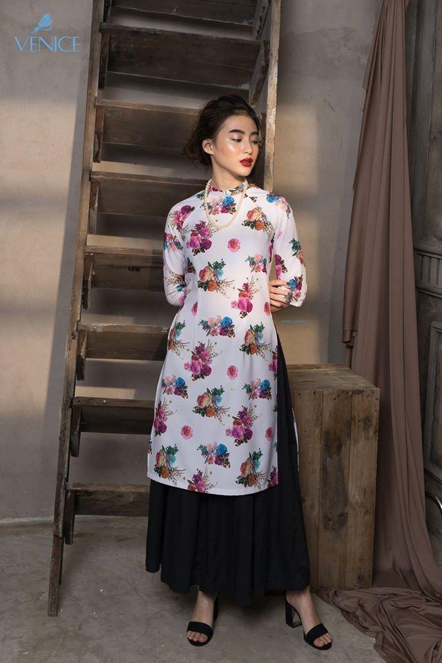 Những thiết kế áo dài cách tân thuần Việt giá dưới 1.5 triệu đẹp lung linh cho nàng diện Tết - Ảnh 13.