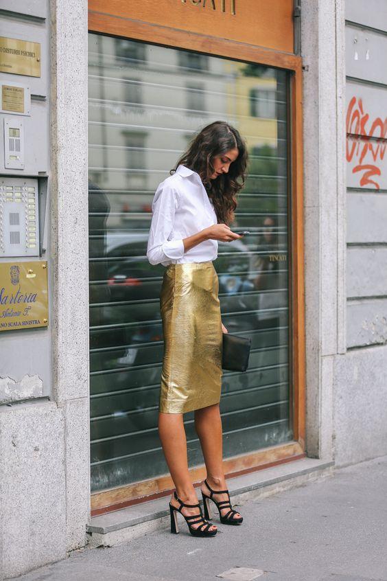 Diện sơmi và chân váy bút chì đến công sở: Bạn chọn phong cách nào! - Ảnh 13.