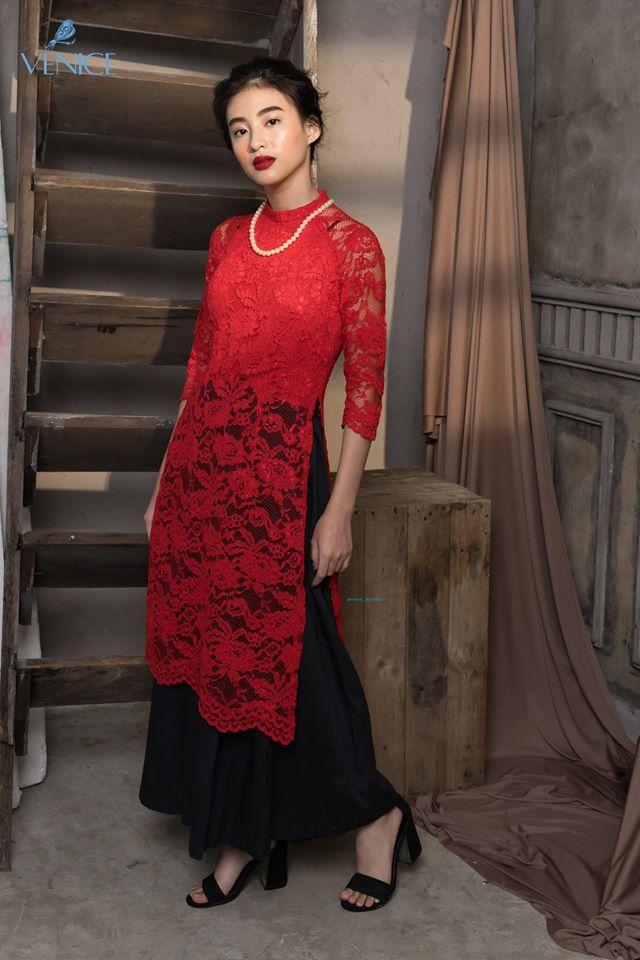 Những thiết kế áo dài cách tân thuần Việt giá dưới 1.5 triệu đẹp lung linh cho nàng diện Tết - Ảnh 14.