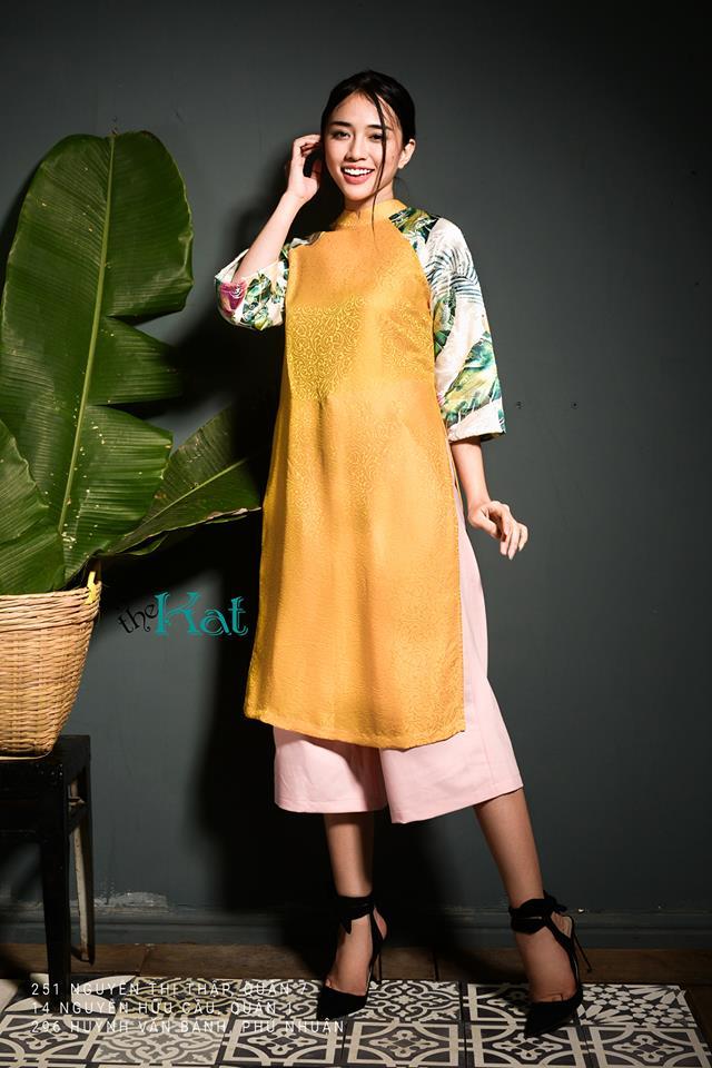 Những thiết kế áo dài cách tân thuần Việt giá dưới 1.5 triệu đẹp lung linh cho nàng diện Tết - Ảnh 11.