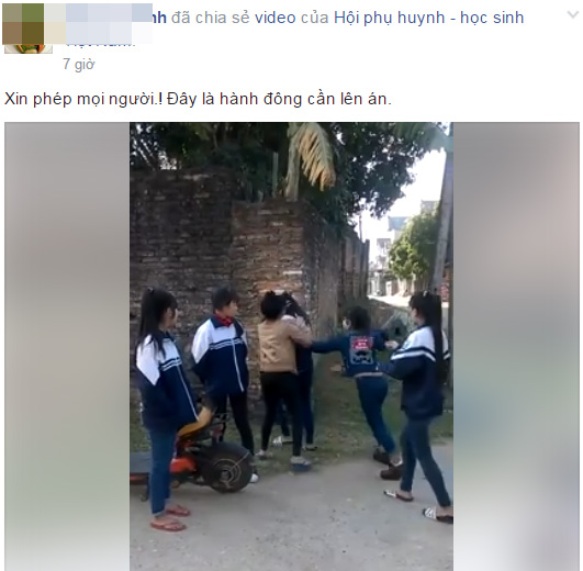 Thực hư về clip một nhóm nữ sinh cầm gạch đánh bạn ngất xỉu giữa đường ở Bắc Giang - Ảnh 2.