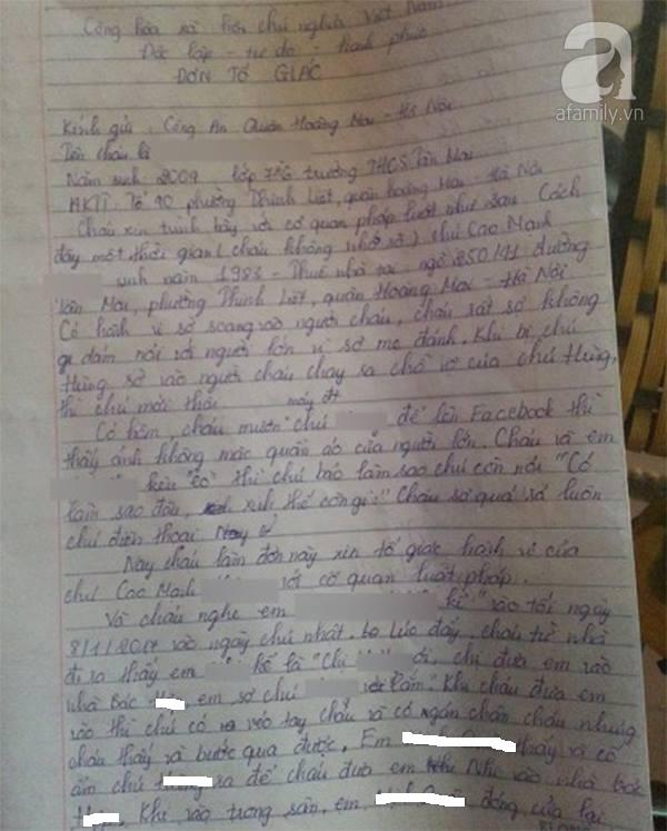 Hà Nội: Mẹ tố cáo hàng xóm rủ chơi trốn tìm rồi xâm hại vùng kín con gái 8 tuổi - Ảnh 1.
