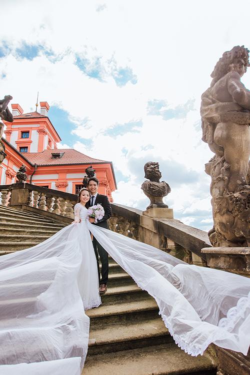 Cặp đôi Việt kiều Séc tỏ tình lãng mạn trên tuyết, chụp ảnh cưới hẹn hò trong… phòng giải phẫu - Ảnh 8.